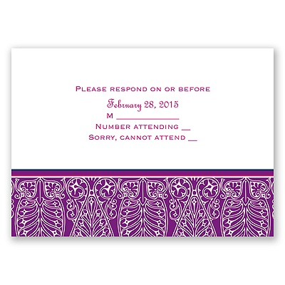 Hip Deco - Berry - Response Card and Envelope