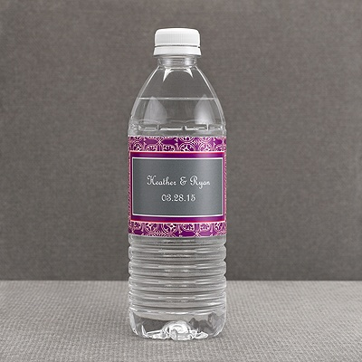 Hip Deco - Berry - Water Bottle Label