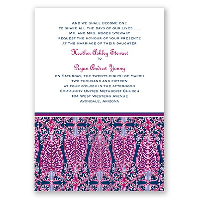 Hip Deco - Berry - Invitation