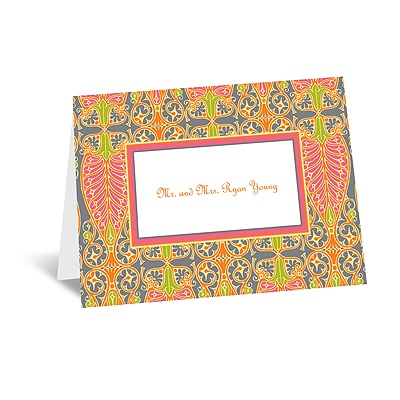 Hip Deco - Fresh - Thank You Card and Envelope
