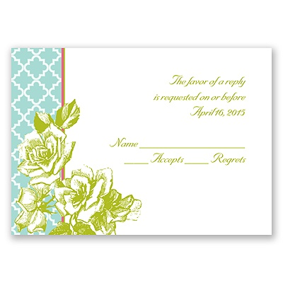Hip Roses - Fresh - Response Card and Envelope