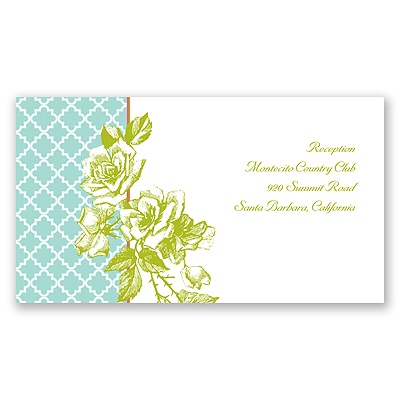 Hip Roses - Fresh - Reception Card
