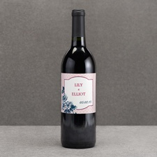 Hip Roses - Berry - Wine Bottle Label
