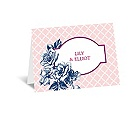 Hip Roses - Berry - Thank You Card and Envelope