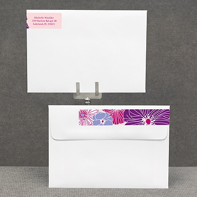 Hip Blossoms - Berry - Address Label