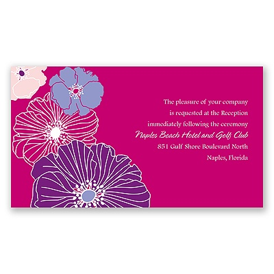 Hip Blossoms - Berry - Reception Card