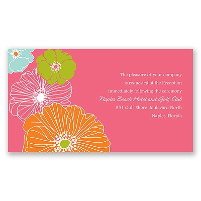 Hip Blossoms - Fresh - Reception Card