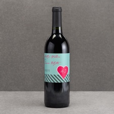 Hip Heart - Fresh - Wine Bottle Label
