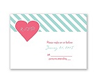 Hip Heart - Fresh - Response Card and Envelope
