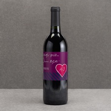Hip Heart - Berry - Wine Bottle Label