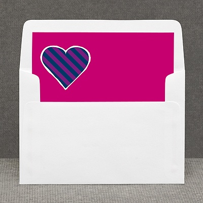 Hip Heart - Berry - Custom Envelope Liner