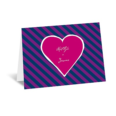 Hip Heart - Berry - Thank You Card and Envelope