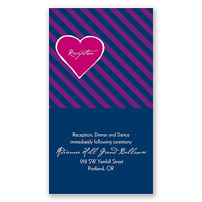 Hip Heart - Berry - Reception Card
