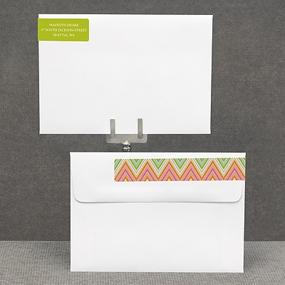 Hip Chevron - Fresh - Address Label