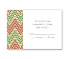 Hip Chevron - Fresh - Response Card and Envelope