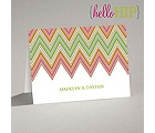 Hip Chevron - Fresh - Thank You Card and Envelope