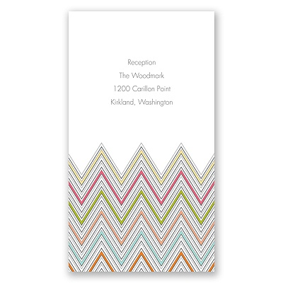 Hip Chevron - Fresh - Reception Card