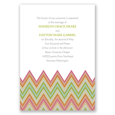 Hip Chevron - Fresh - Invitation