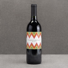 Hip Chevron - Fresh - Wine Bottle Label