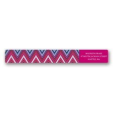 Hip Chevron - Berry - Address Label