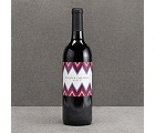 Hip Chevron - Berry - Wine Bottle Label