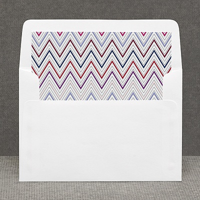 Hip Chevron - Berry - Custom Envelope Liner