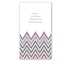 Hip Chevron - Berry - Reception Card