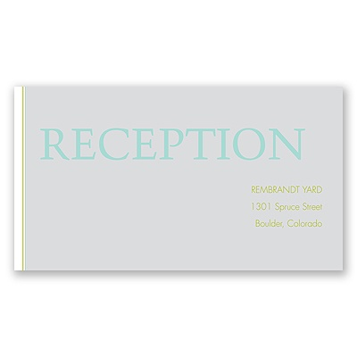 Hip Names - Fresh - Reception Card