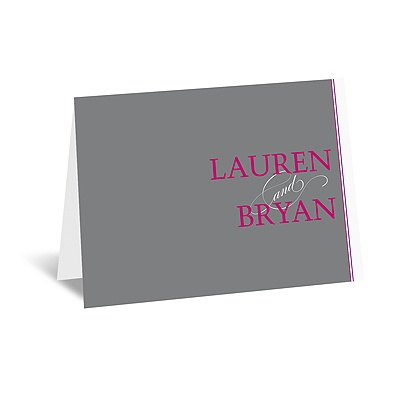 Hip Names - Berry - Thank You Card and Envelope