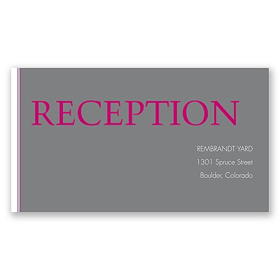 Hip Names - Berry - Reception Card