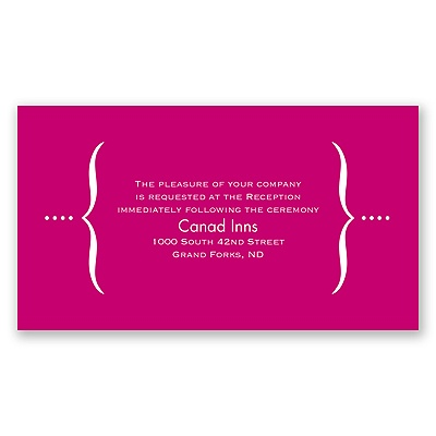 Hip Type - Berry - Reception Card