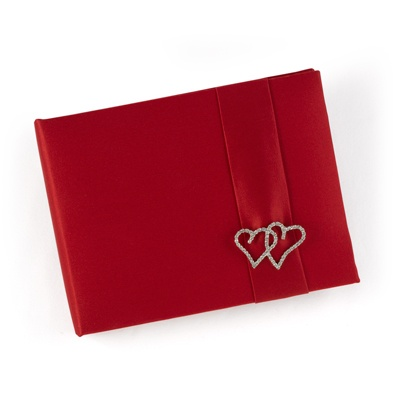With All My Heart - Claret Wedding Guest Book
