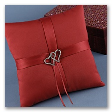 With All My Heart - Claret Pillow
