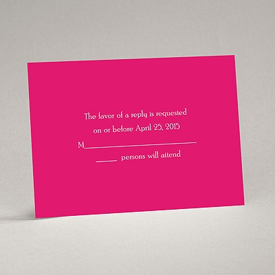 Your Color - Response Card and Envelope