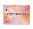 Watercolor Paris - Pink - Reception Card