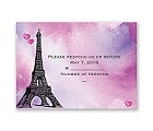 Watercolor Paris - Purple - Response Card and Envelope