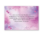 Watercolor Paris - Purple - Reception Card