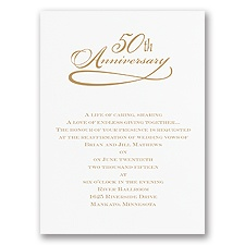 Classic 50th Anniversary - Invitation
