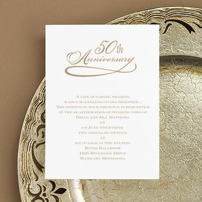 23 plain 50th Wedding Anniversary Invitation Ideas navokalcom