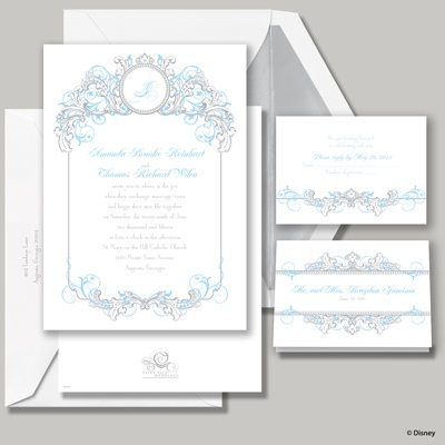 Fairy Tale Filigree Invitation - Cinderella