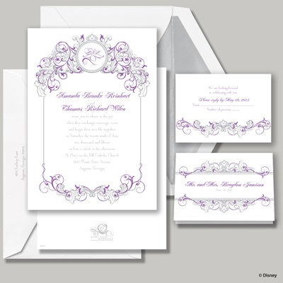 Fairy Tale Filigree Invitation - Rapunzel