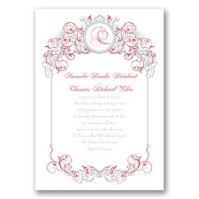 Fairy Tale Filigree Invitation - Snow White