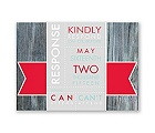 Rustic Banner - Cherry - Response Card and Envelope