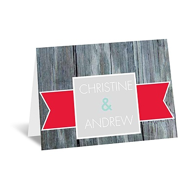 Rustic Banner - Cherry - Note Card and Envelope