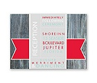 Rustic Banner - Cherry - Reception Card
