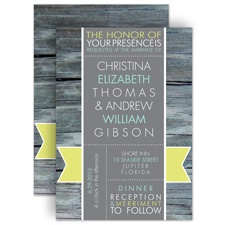 Rustic Banner - Limelight - Invitation