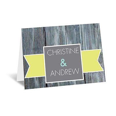 Rustic Banner - Limelight - Note Card and Envelope