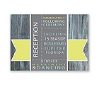 Rustic Banner - Limelight - Reception Card