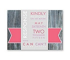 Rustic Banner - Posie Pink - Response Card and Envelope