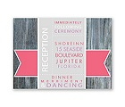 Rustic Banner - Posie Pink - Reception Card